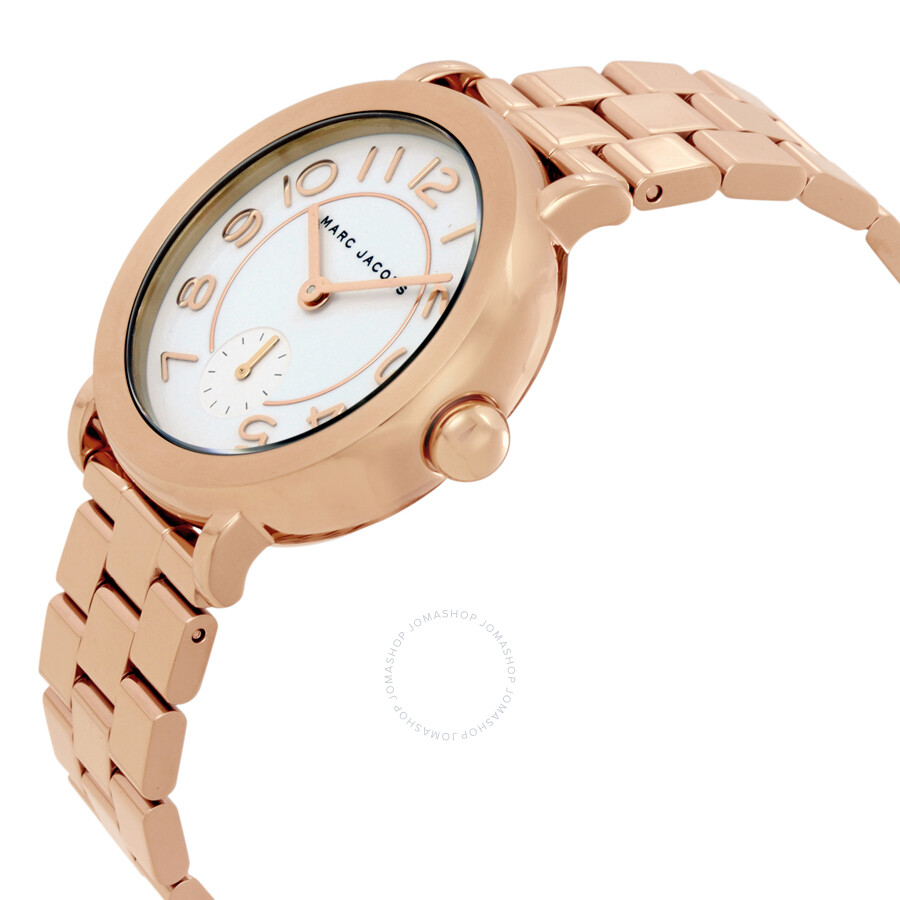 marc jacobs female marc jacobs riley white dial ladies watch mj3471