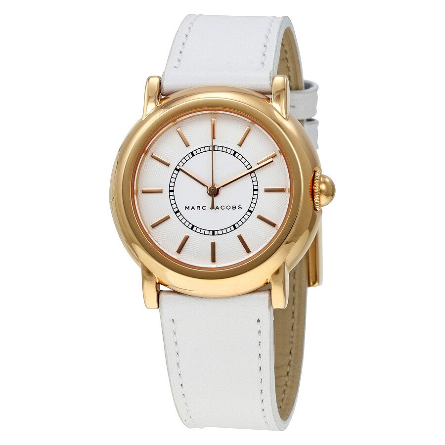 marc jacobs female marc jacobs riley white dial ladies watch mj8674