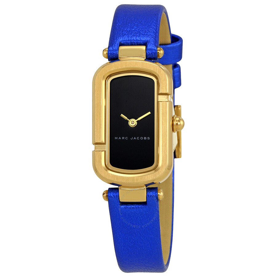 marc jacobs female marc jacobs the jacob ladies metallic blue watch mj1501