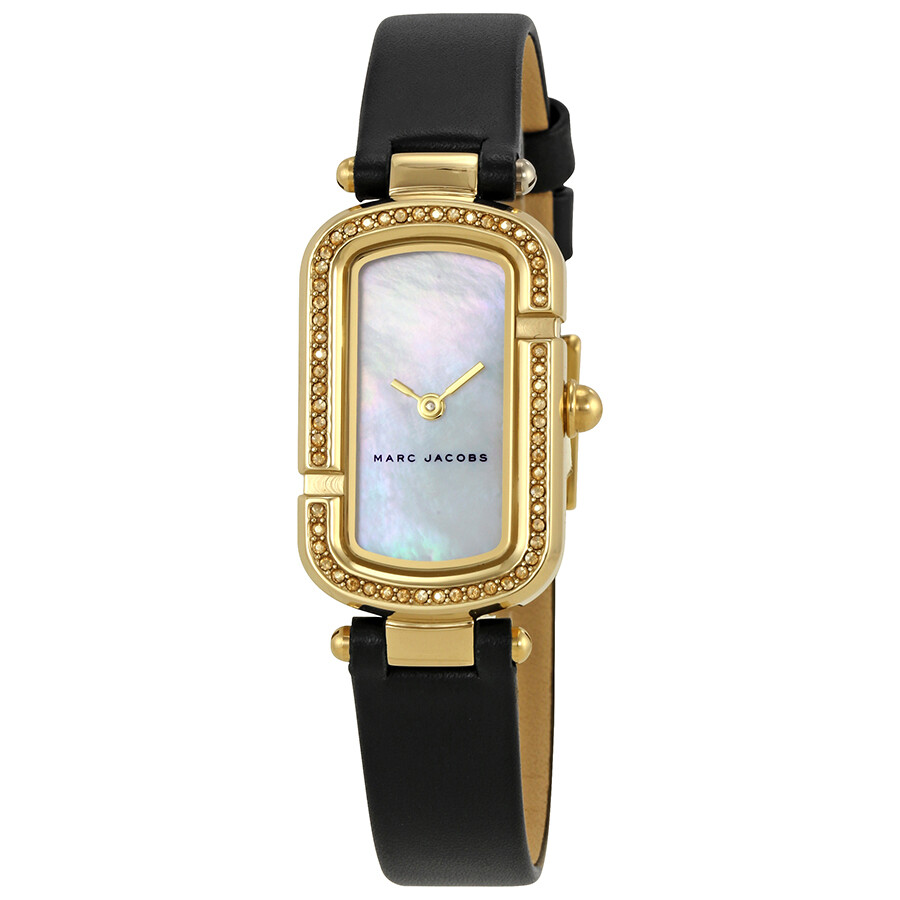 marc jacobs female marc jacobs the jacobs mother of pearl dial ladies watch mj1495