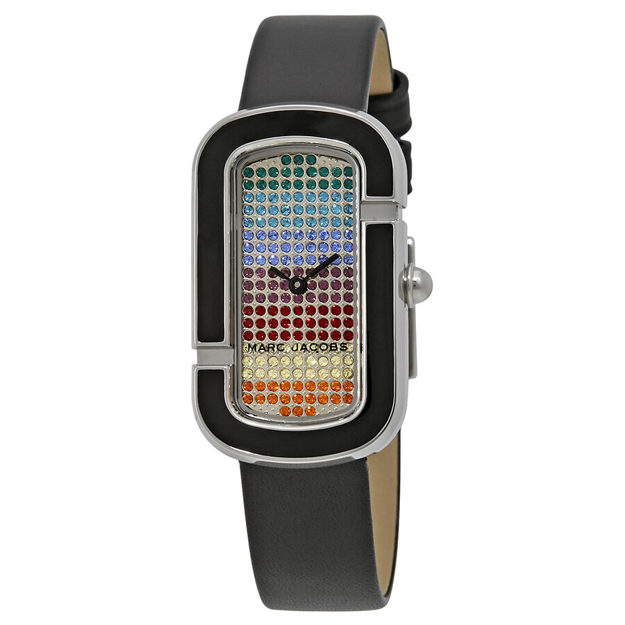 marc jacobs female marc jacobs the jacobs rainbow pave crystal dial ladies watch mj1569