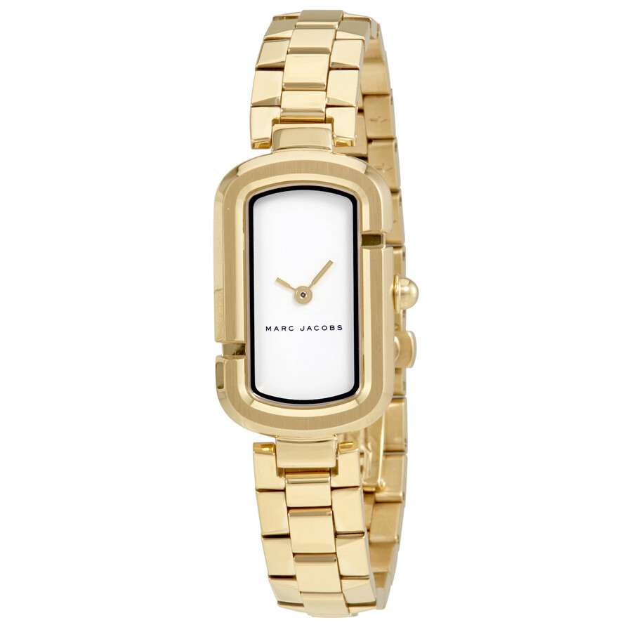 marc jacobs female marc jacobs the jacobs white dial ladies gold tone watch mj3504