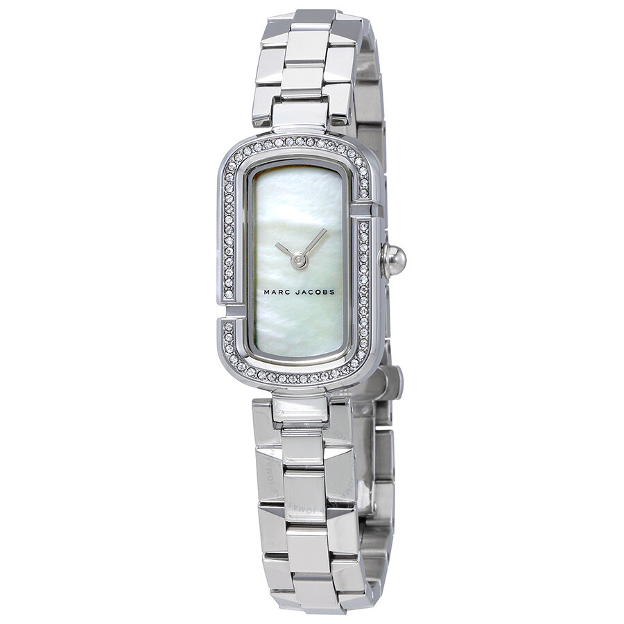 marc jacobs female marc jacobs the jacobs white mother of pearl dial ladies watch mj3535