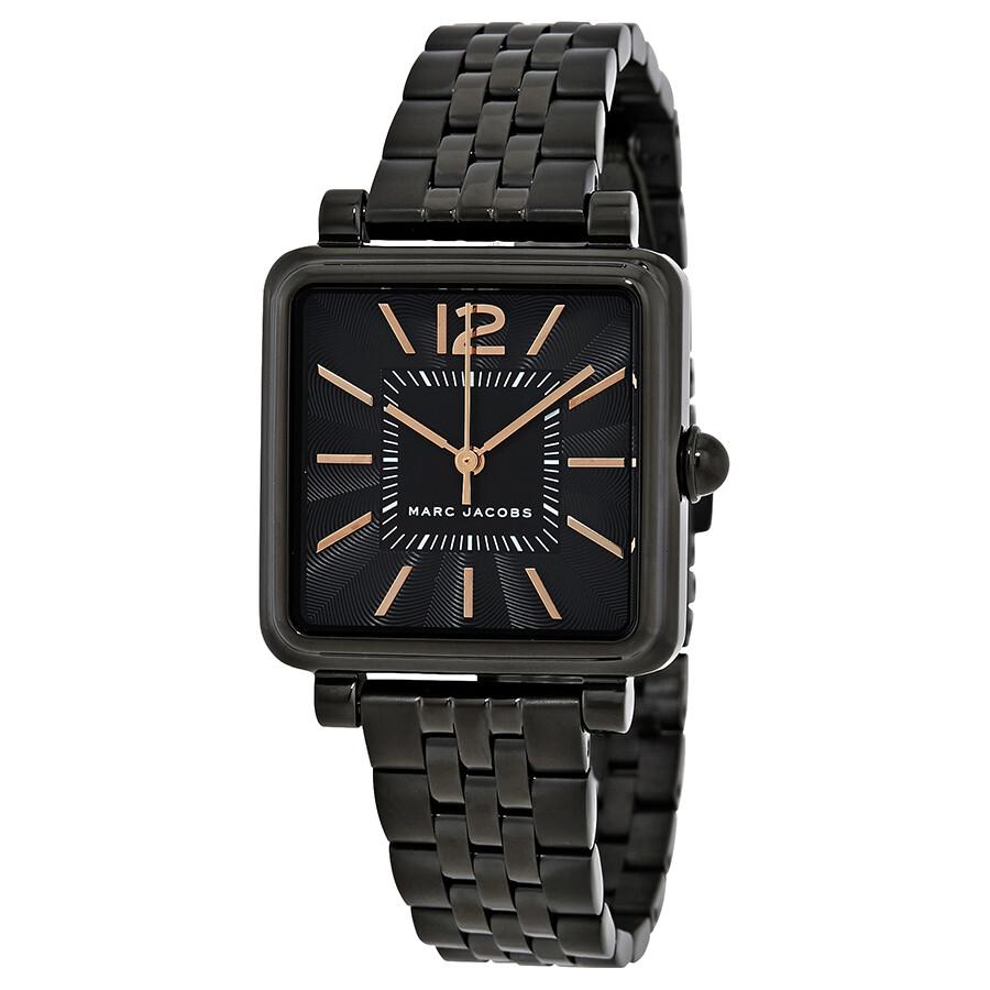 Marc Jacobs Vic Black Dial Black PVD Ladies Watch MJ3518