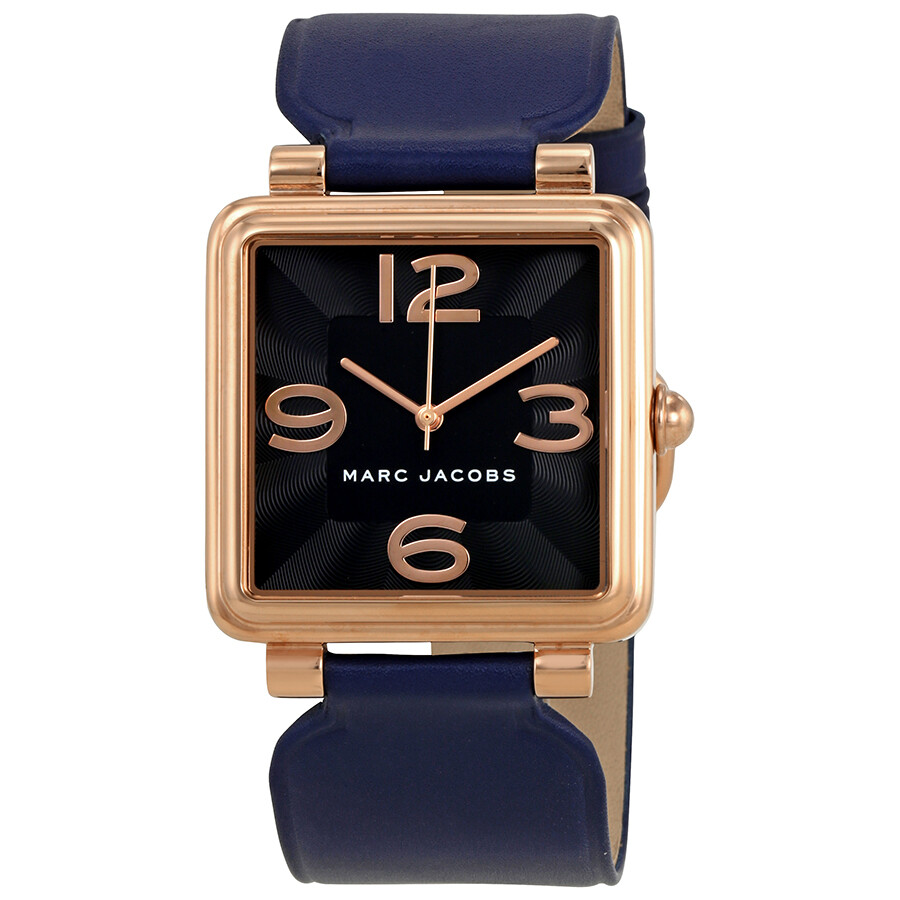 marc jacobs female marc jacobs vic black dial ladies leather watch mj1530