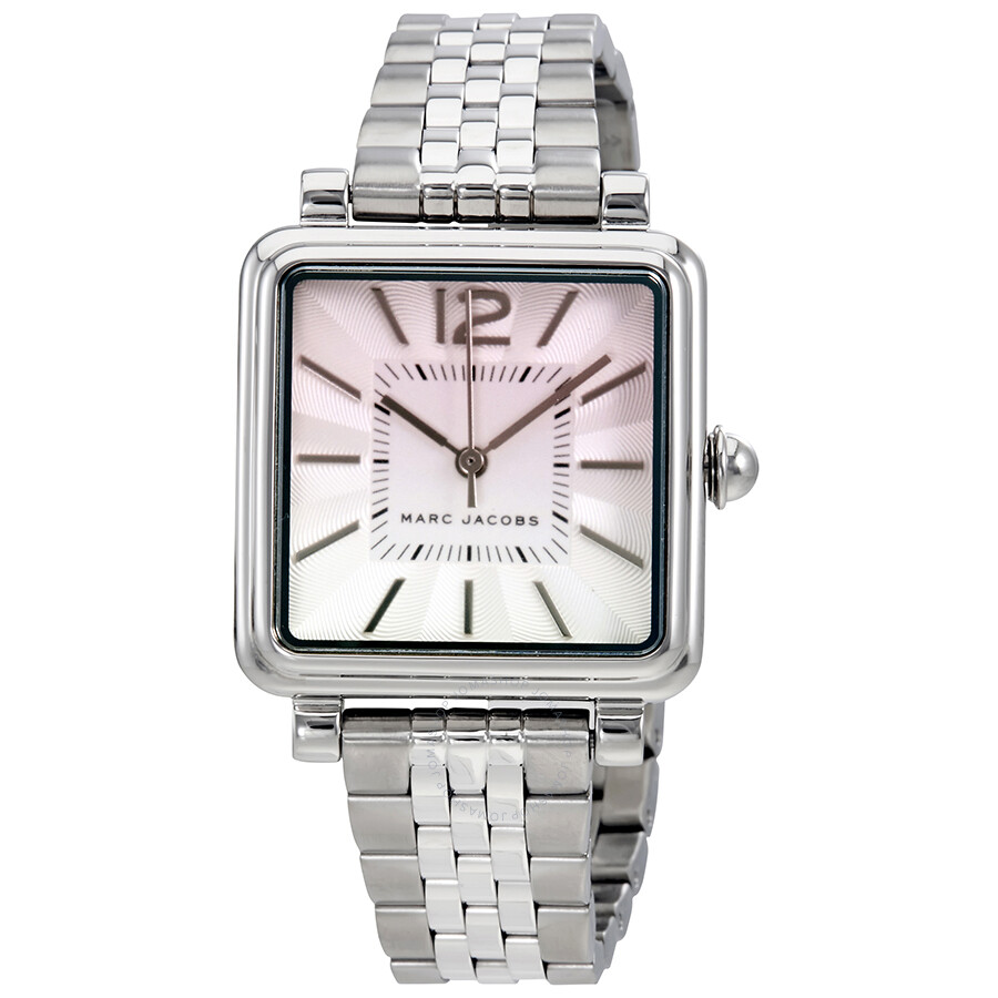 marc jacobs female marc jacobs vic silver dial ladies watch mj3555