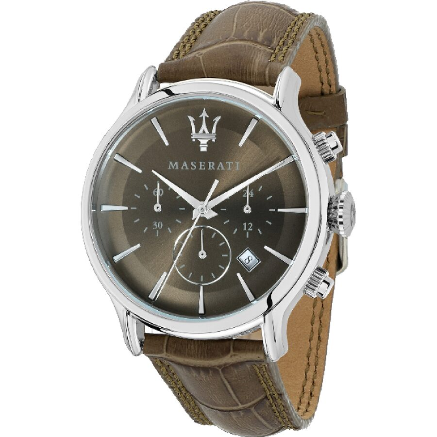 Maserati Epoca Chronograph Brown Dial Mens Watch R8871618009