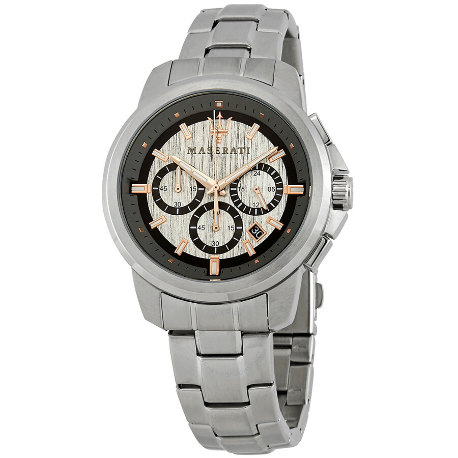 Maserati Successo Chronograph Grey Dial Mens Watch R8873621004