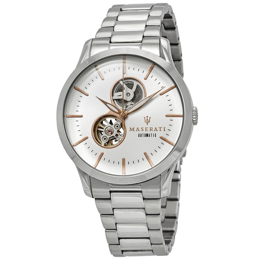 Maserati Tradizione Automatic White Dial Mens Watch R8823125001
