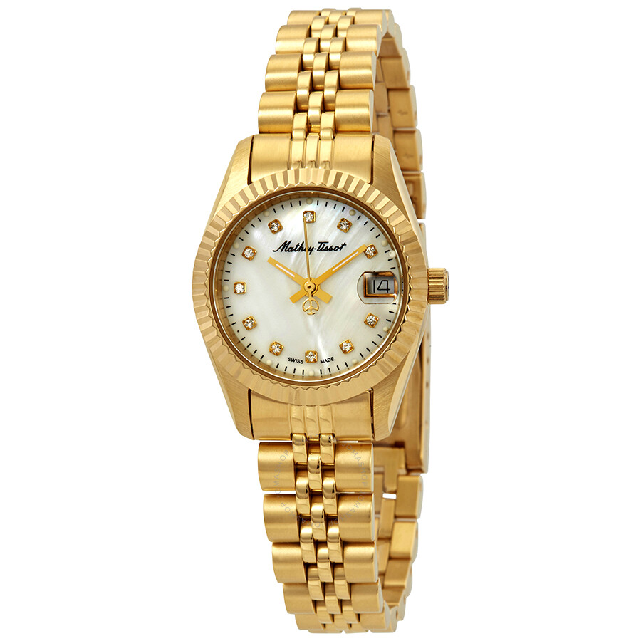Mathey tissot rolly ii crystal ladies watch d710pi mathey tissot watches jomashop for Crystal ladies watch
