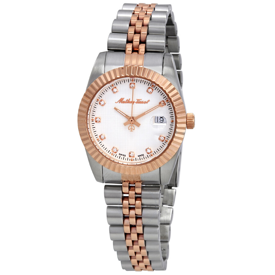 Mathey-Tissot Rolly III Crystal White Dial Ladies Watch D810RA