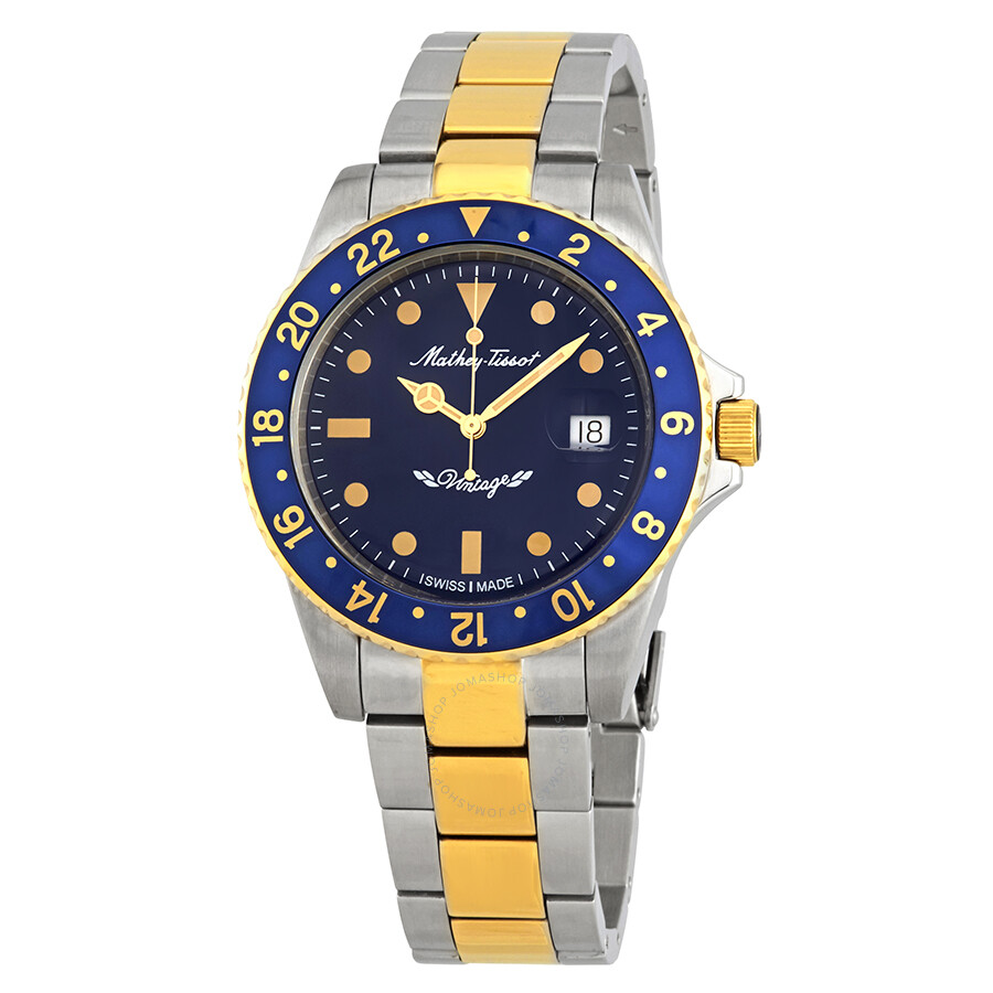 Mathey-Tissot Rolly Vintage Automatic Blue Dial Mens Watch H901ATBBU