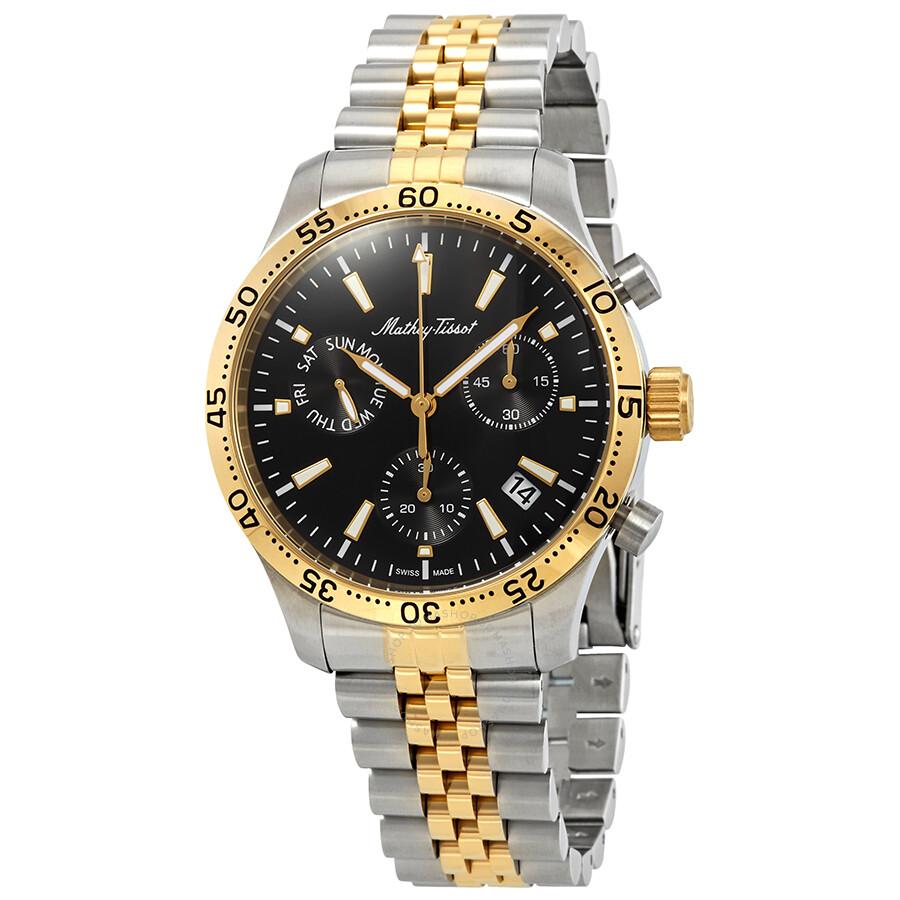 Mathey-Tissot Type 22 Chronograph Black Dial Mens Watch H1822CHBN