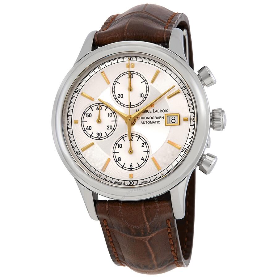Maurice lacroix les classiques chronograph automatic men 39 s watch lc6158 ss001 130 les for Maurice lacroix watches