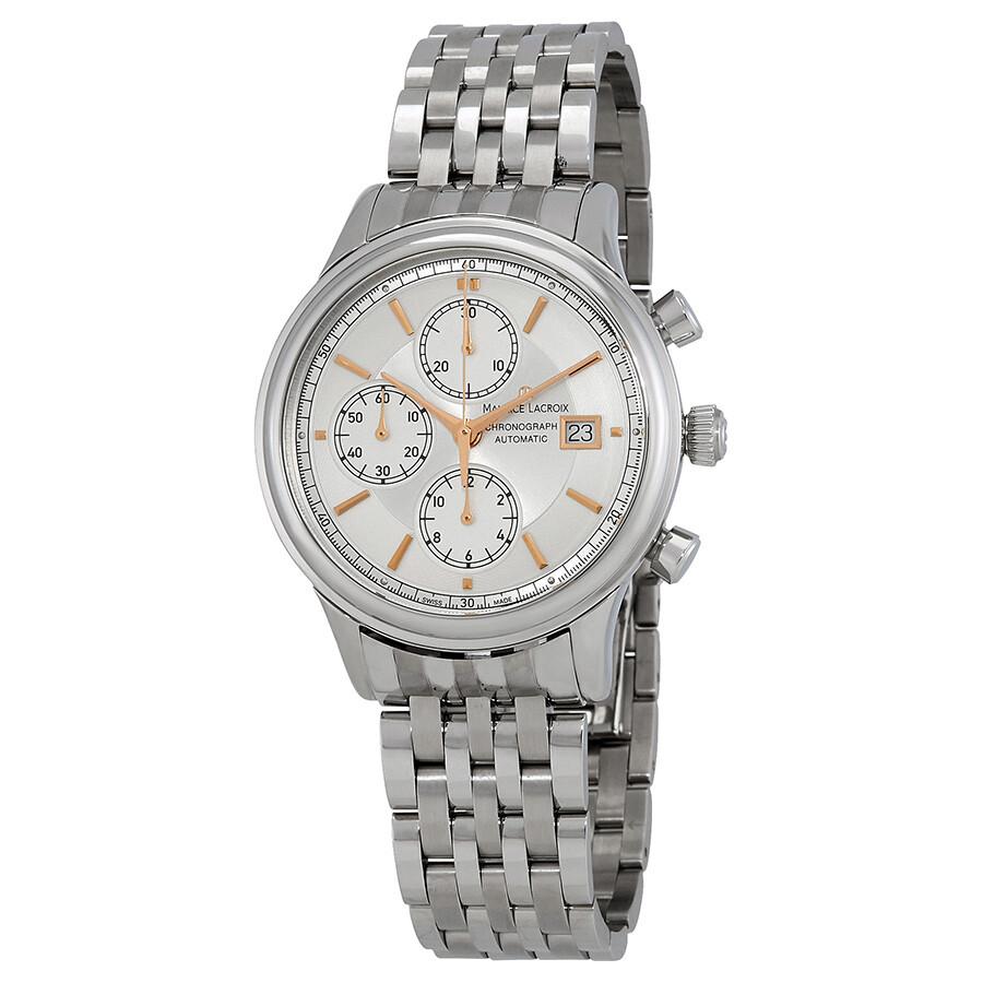 Maurice Lacroix Les Classiques Chronograph Automatic Mens Watch LC6158-SS002-130