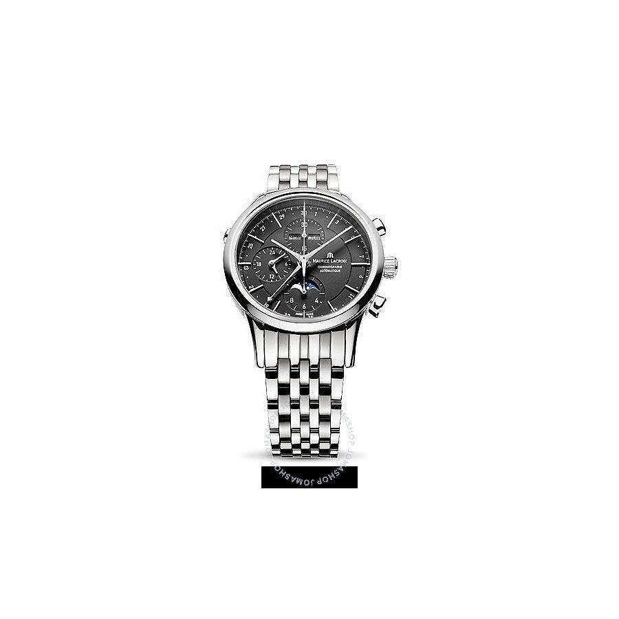 Maurice Lacroix Les Classiques Chronograph Black Dial Mens Watch ML-LC6078-YS101-13E