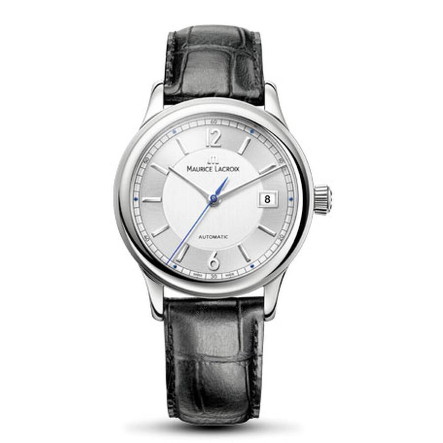 Maurice Lacroix Les Classiques Date Silver Dial Mens Watch LC6027-SS001-120