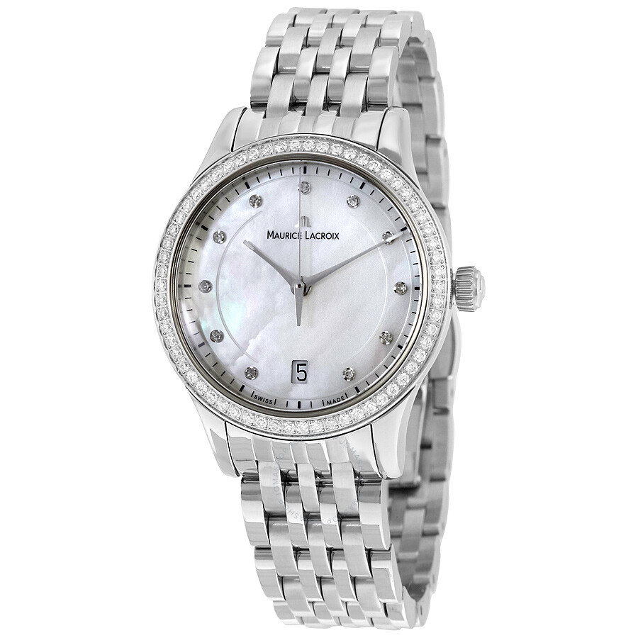 Maurice Lacroix Les Classiques Mother of Pearl Dial Ladies Watch LC1026-SD50..