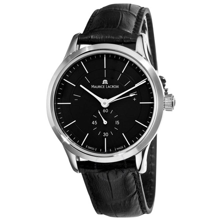 Maurice Lacroix Les Classiques Reserve de Marche Automatic Black Dial Mens Watch LC7008-SS001-330