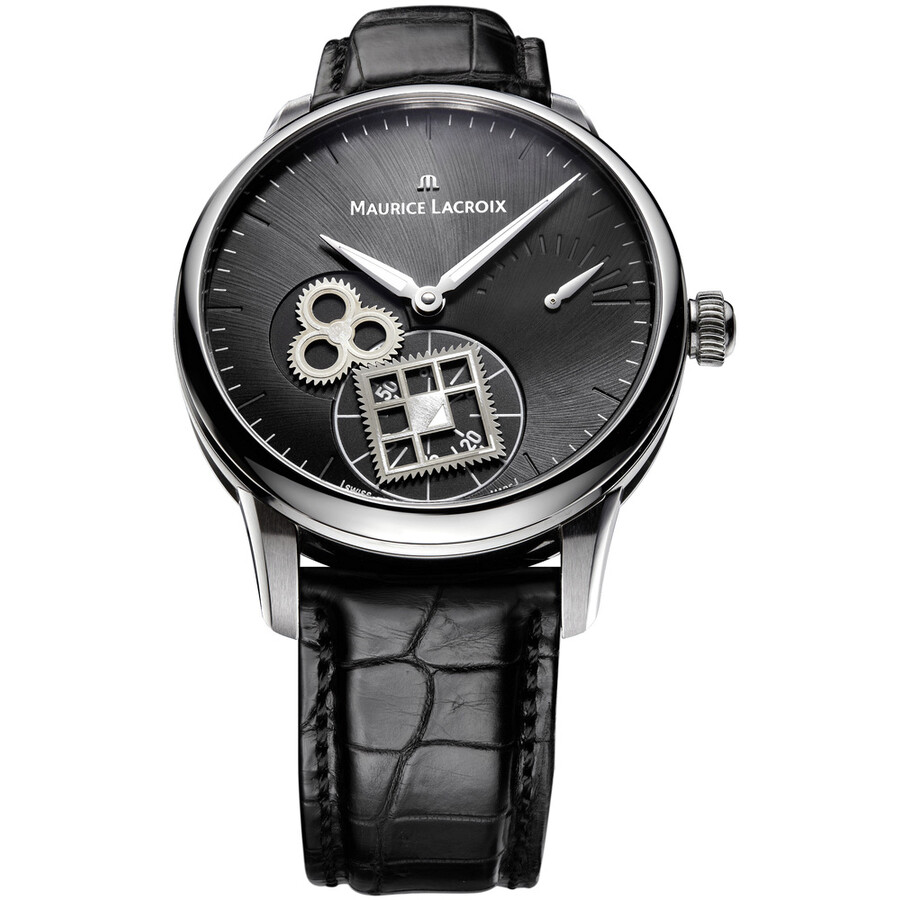 Maurice Lacroix Masterpiece Roue Carree Black Dial Mens Watch MP7158-SS001-900