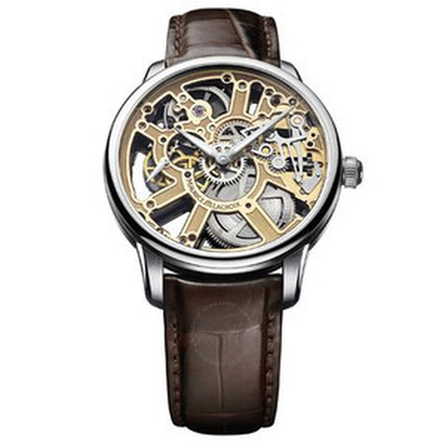 Maurice Lacroix Masterpiece Squelette Skeleton Dial Mens Watch MP7228-SS001-001