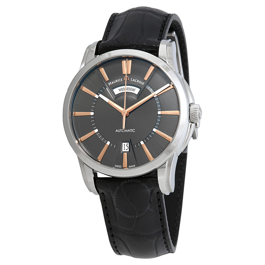 Maurice Lacroix Pontos Automatic Grey Dial Mens Watch PT6158-SS001-03EBK