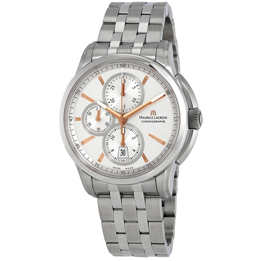 Maurice Lacroix Pontos Automatic Silver Dial Mens Watch PT6188-SS002-131