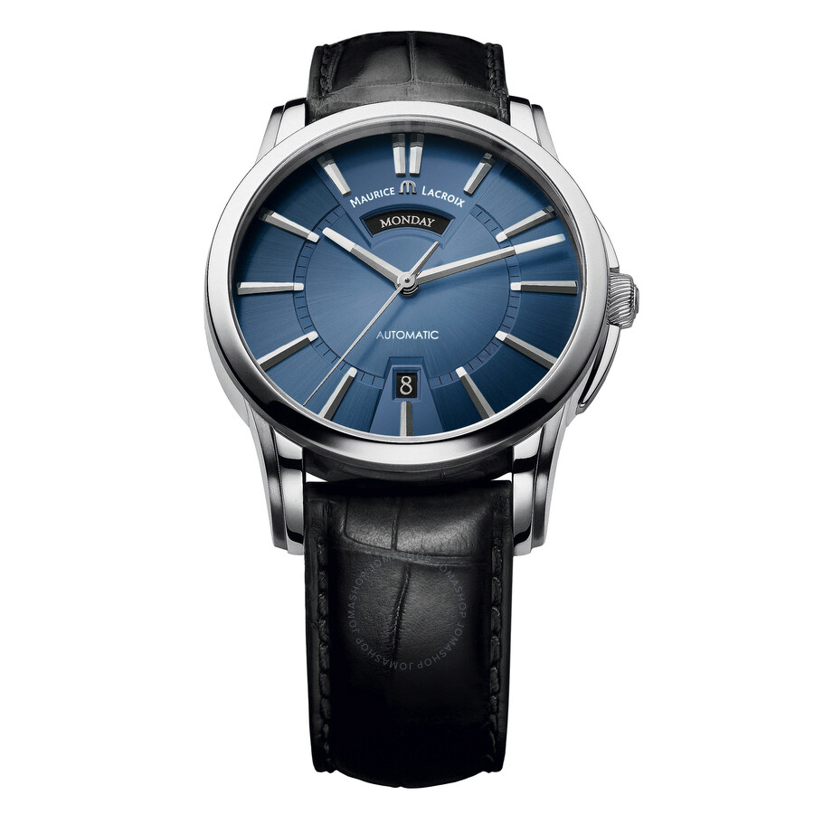 Maurice Lacroix Pontos Day & Date Blue Dial Automatic Mens Watch PT6158-SS001-43E