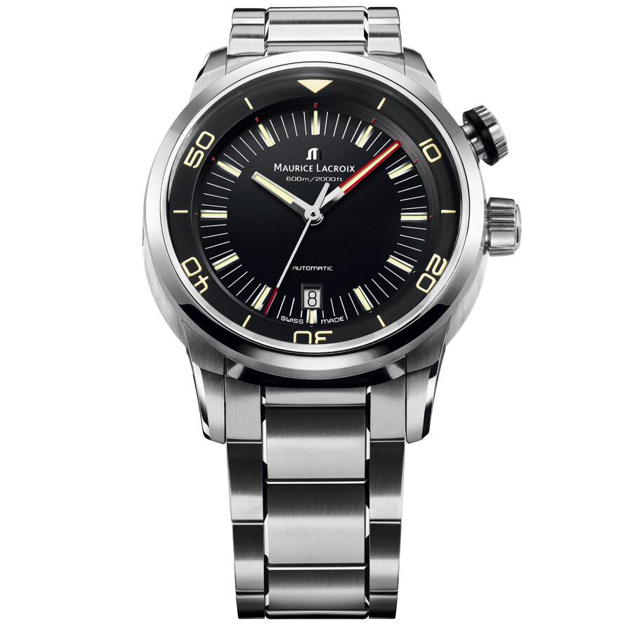 Maurice Lacroix Pontos S Diver Black Dial Mens Watch PT6248-SS002330