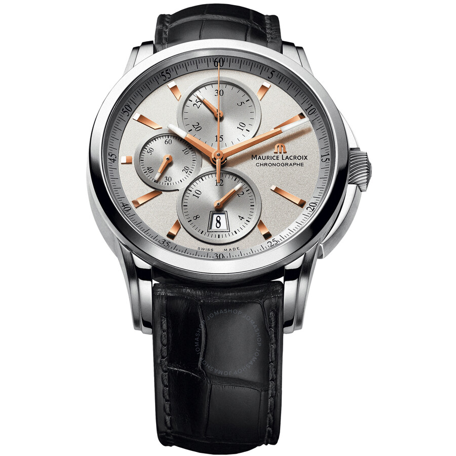 Maurice Lacroix Pontos Silver Dial Leather Menss Watch PT6188-SS001-131