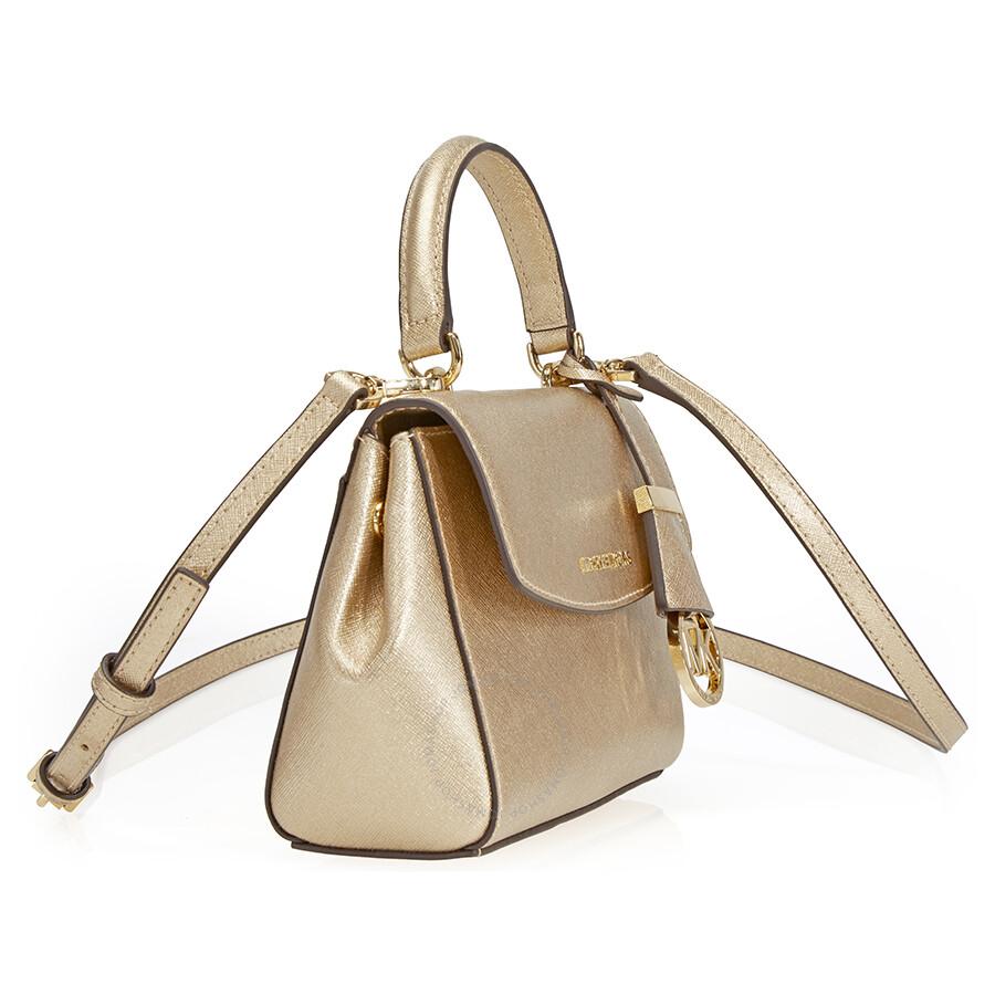 c01acdba2a4a ... where can i buy michael kors ava extra smal saffiano leather crossbody  pale gold 9ba94 2ce66 ...
