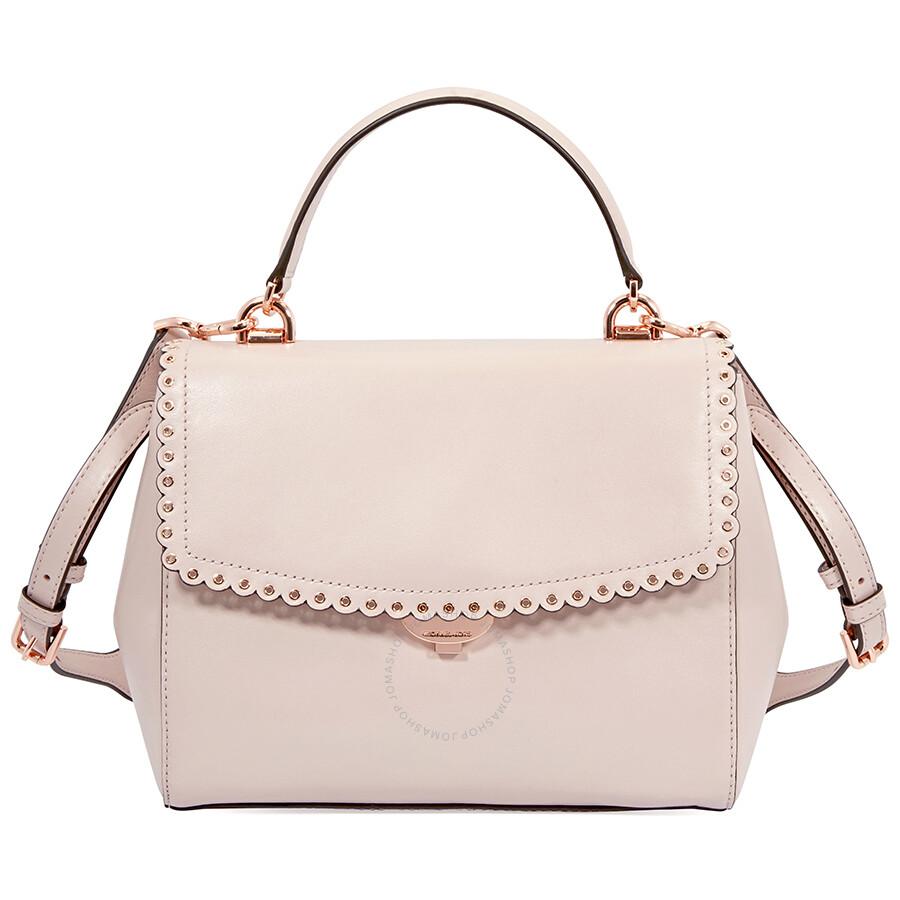 8d5a73b753f4 ... Michael Kors Ava Medium Leather Satchel- Soft Pink