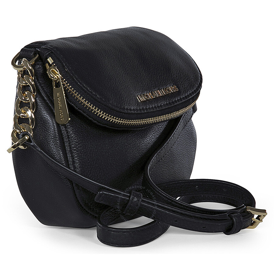 d2ca09edc1e5 Michael Kors Bedford Flap Black Leather Crossbody Bag - Bedford - Michael  Kors Handbags .