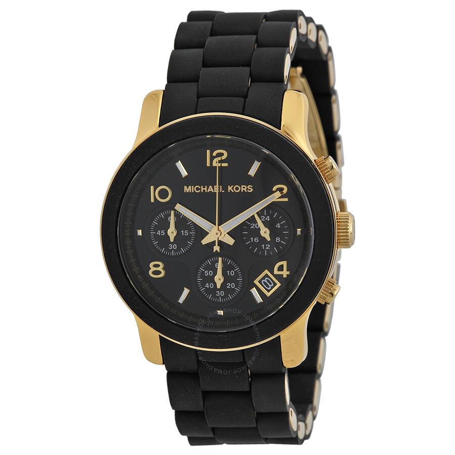 michael kors 188971 michael kors black catwalk chronograph watch mk5191