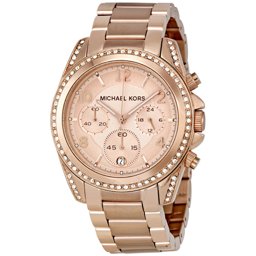 michael kors blair chronograph rose dial ladies watch mk5263 blair michael kors watches
