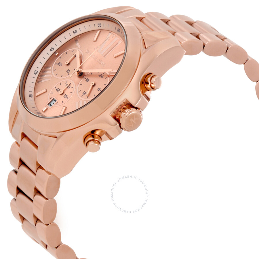 3534dbb262892 Michael Kors Bradshaw Oversize Chronograph Rose Gold-tone Ladies Watch  MK5503 .