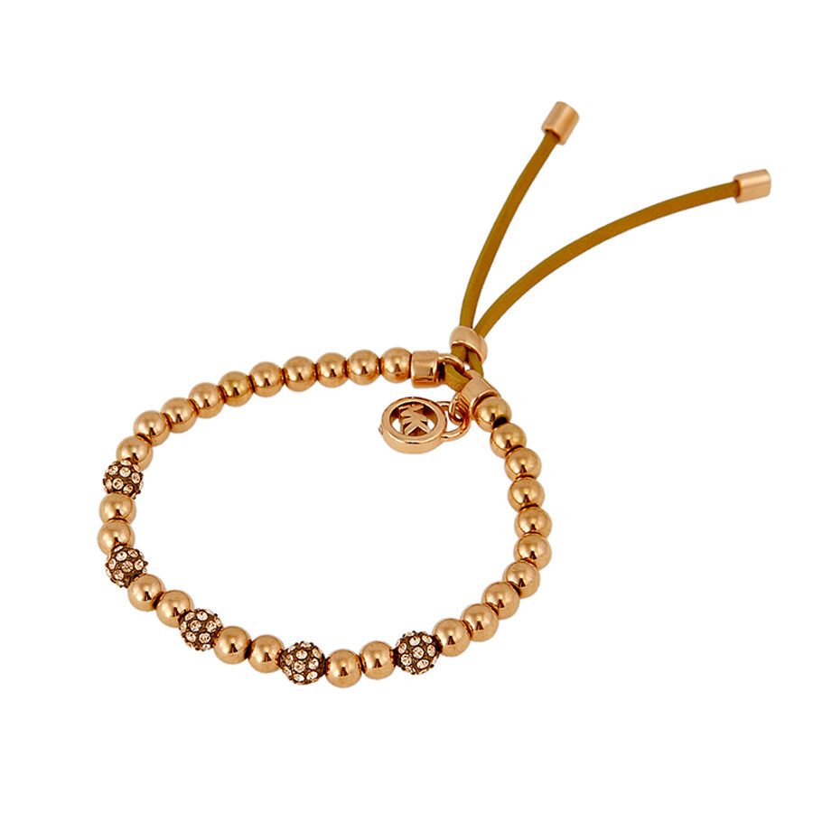 Michael Kors Brilliance Rose Golden Bead Stretch Bracelet MKJ1973791