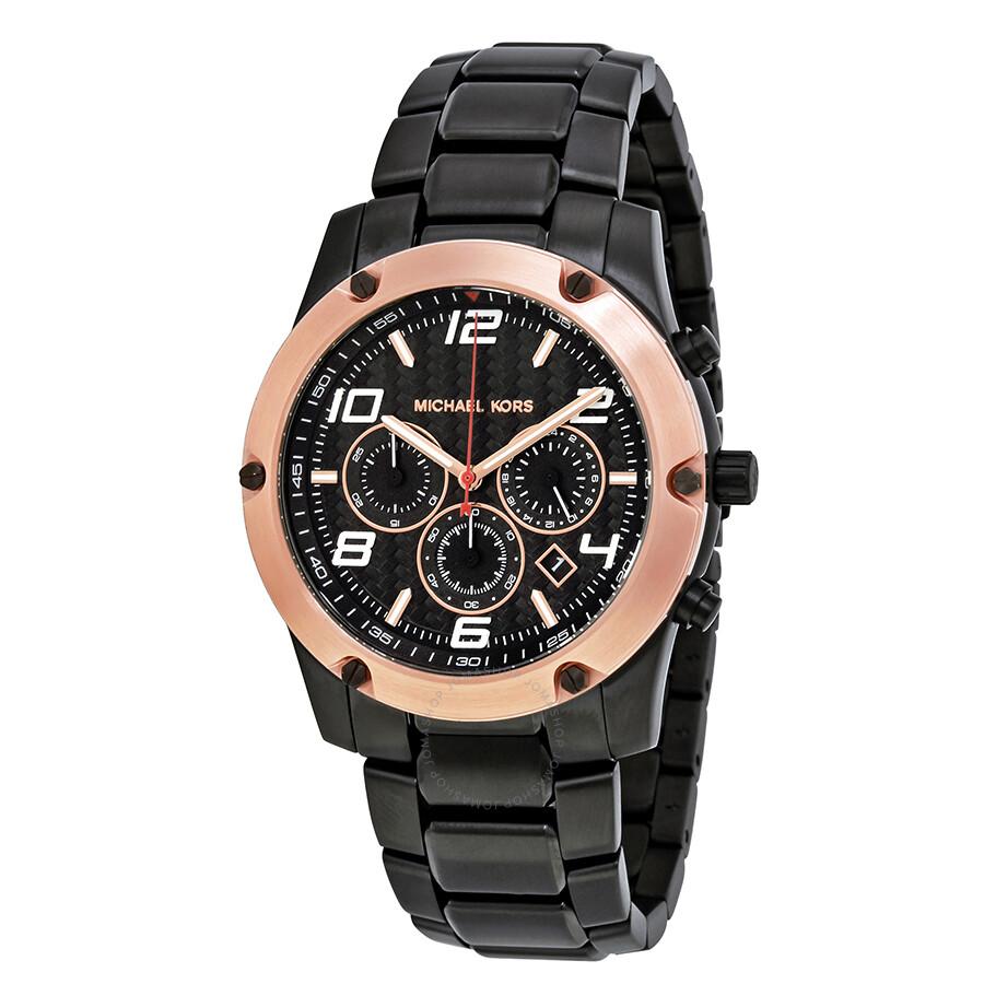 michael kors male michael kors caine chronograph black dial mens watch mk8513