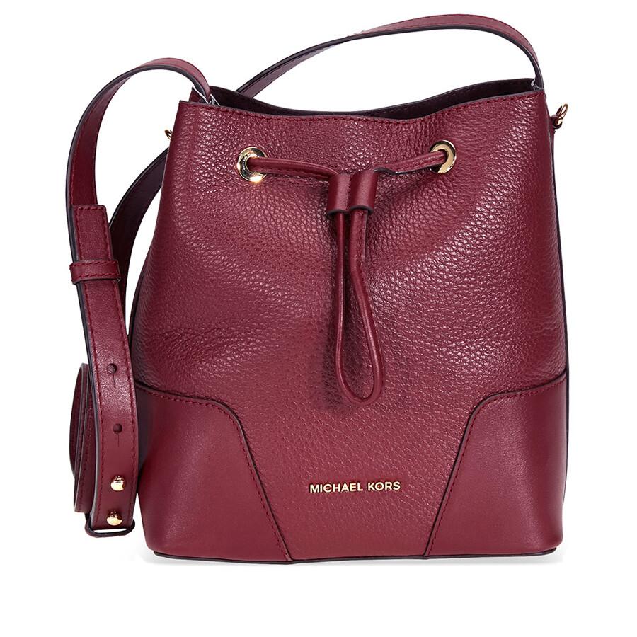 629981b59c78 ... ireland michael kors cary pebbled leather crossbody bag oxblood 8050f  7a30a france michael kors bags ...