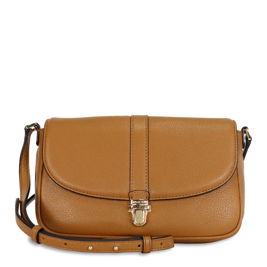 michael kors female 220183 michael kors charlton leather crossbody bag acorngold