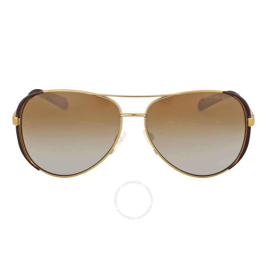 michael kors 211468 michael kors chelsea aviator sunglasses brown gradient polarized