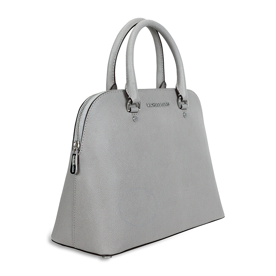 ea6315cef61938 ... promo code for michael kors cindy large saffiano leather satchel pearl  grey d681e 07880