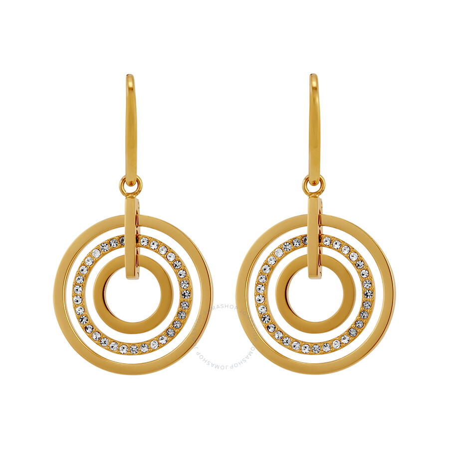 Concentric Circle Earrings: Michael Kors Concentric Circle Gold-Tone Drop Earrings