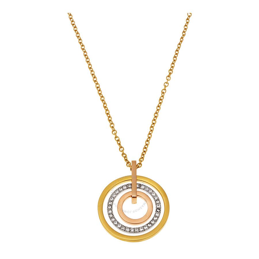michael kors michael kors concentric circle pendant necklace mkj4166998