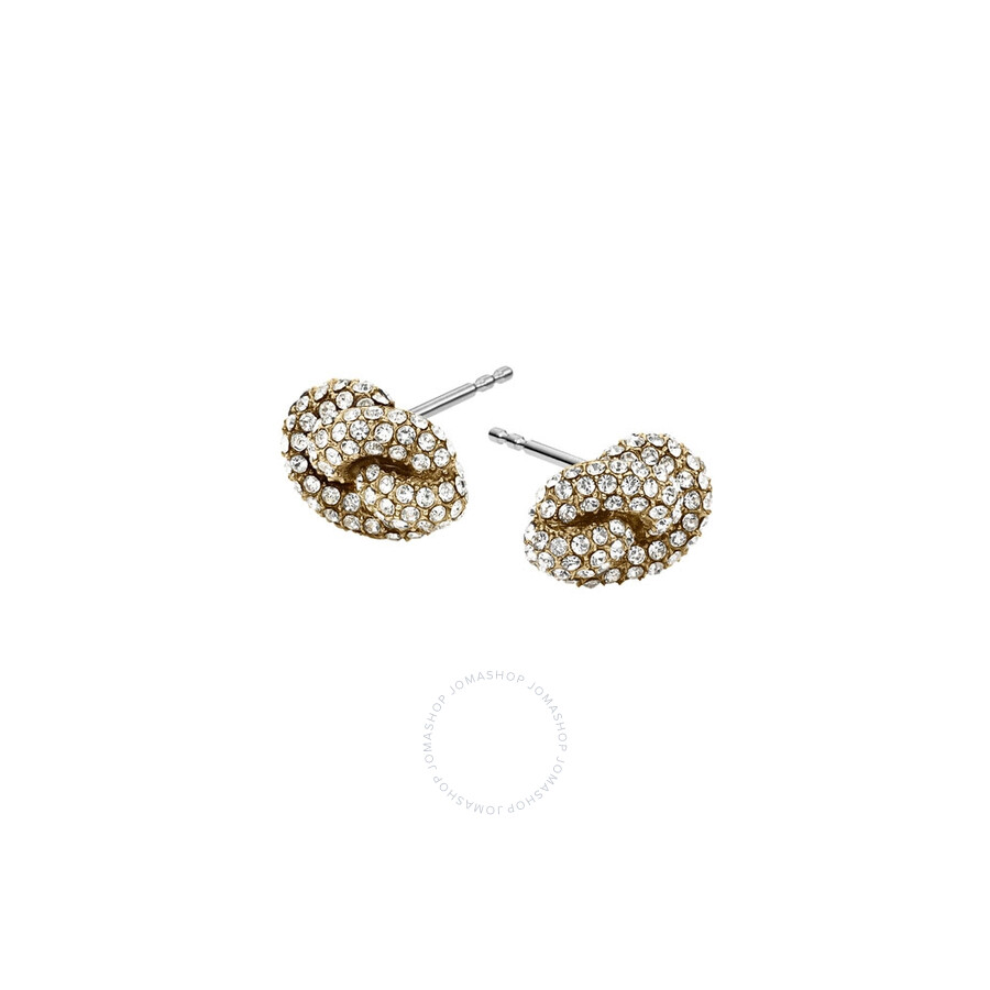 michael kors michael kors crystal pave knot stud earrings mkj4195710