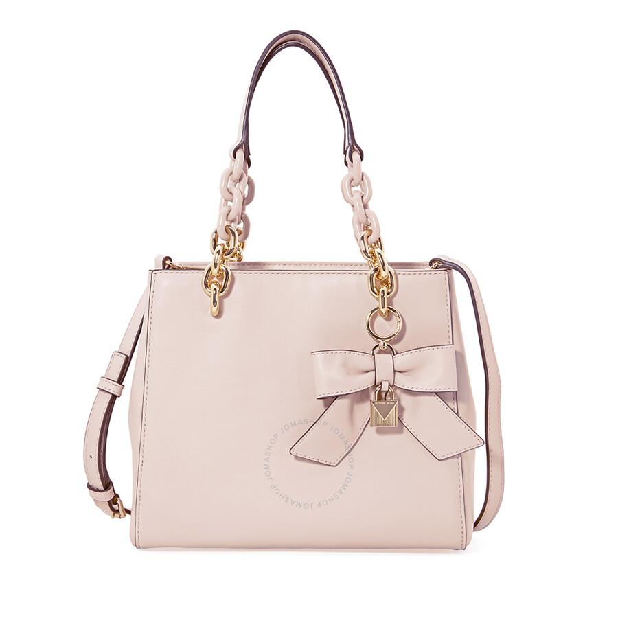 1d4ac29f6587 ... coupon for michael kors cynthia small convertible satchel soft pink  1644f 7eb2b