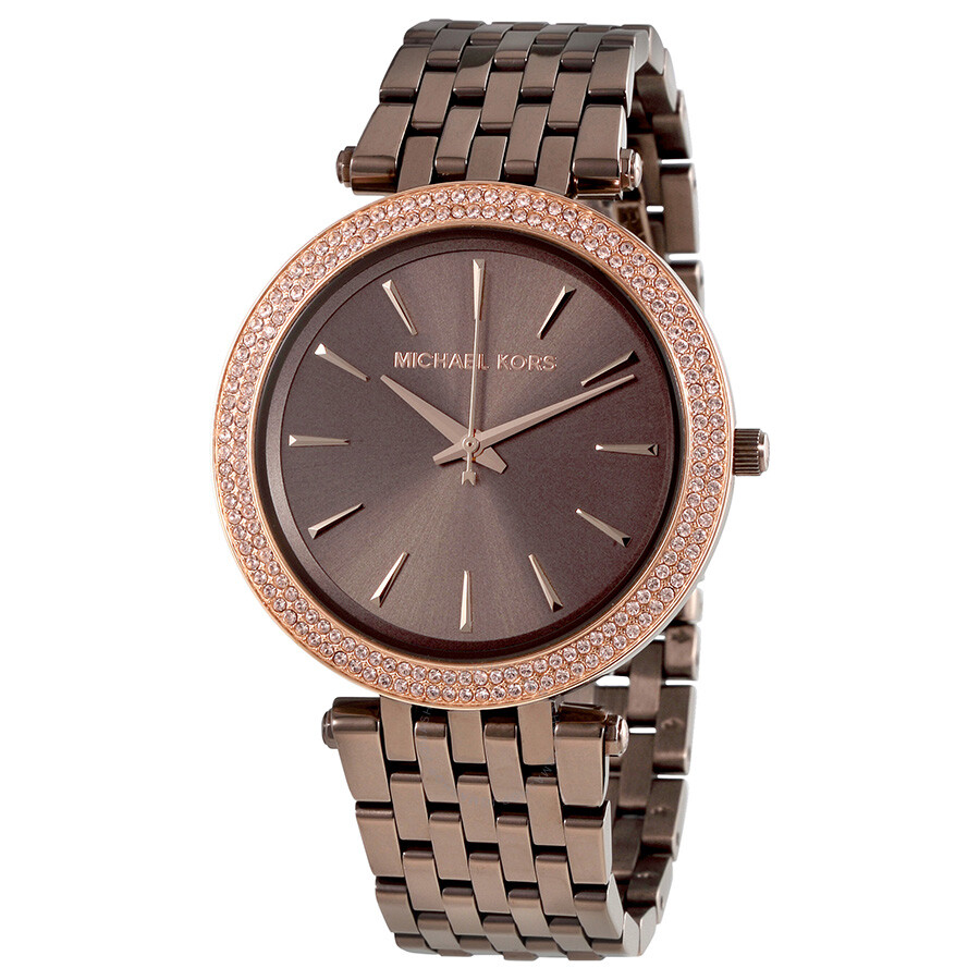 michael kors female michael kors darci sable dial ladies watch mk3416
