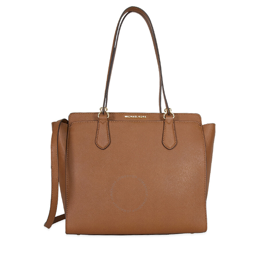 michael kors female michael kors dee dee convertible leather tote luggage