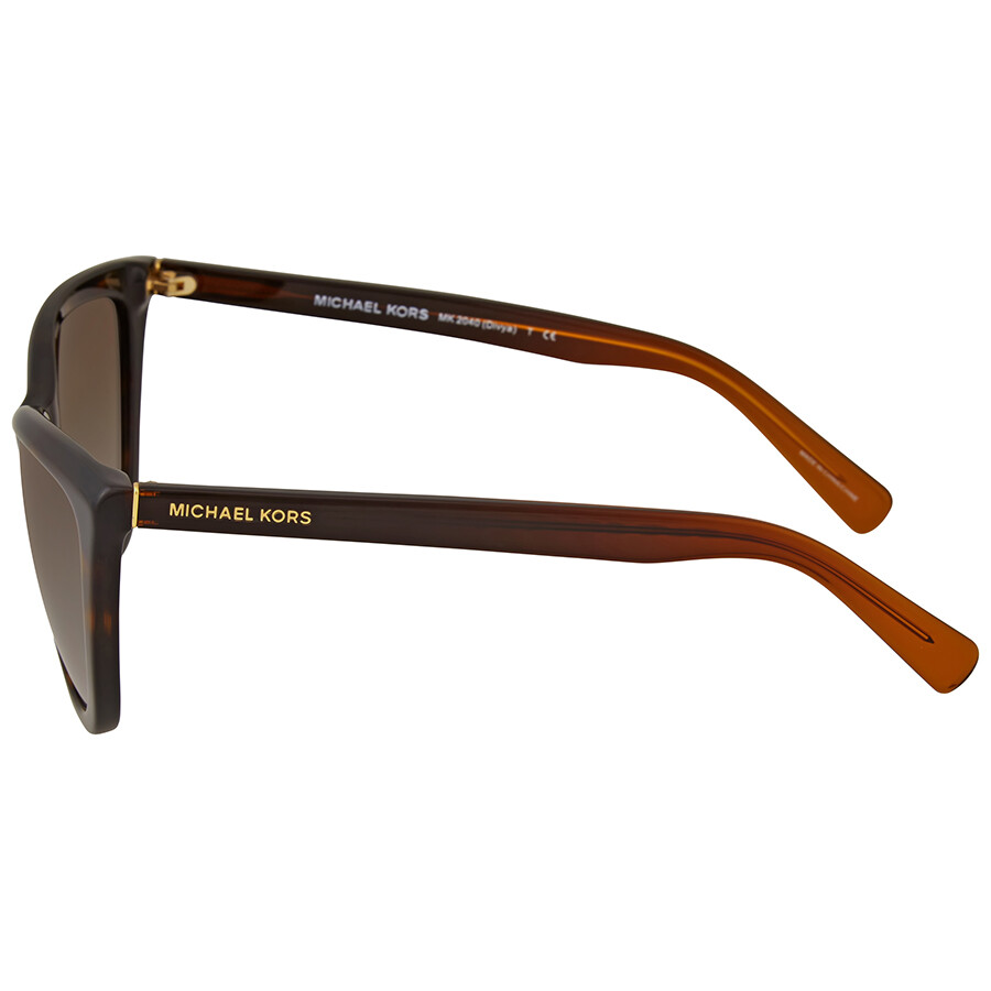 Michael Kors Divya Dark Tortoise Cat Eye Sunglasses - Michael Kors ...