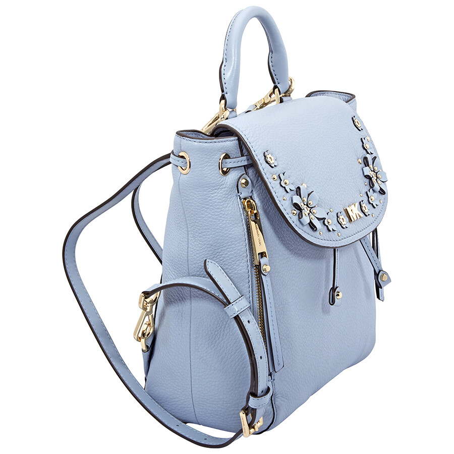 551f19a7af7c ... official store michael kors evie small flower garden backpack pale blue  1c9bc 4a2d7